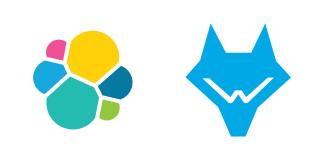 Elastic and Wazuh logos