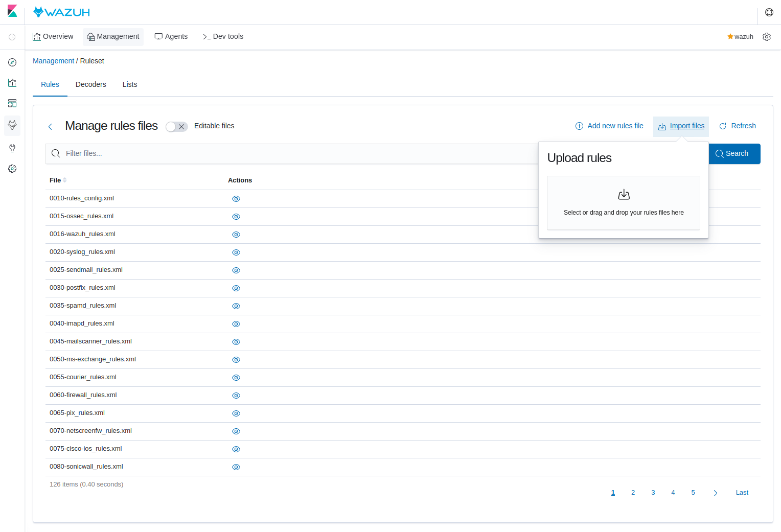 New drag and drop Wazuh v3.11 App feature