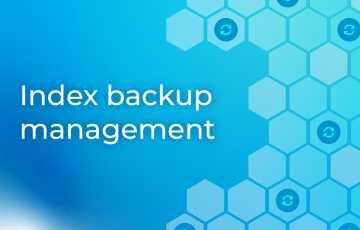 Index backup management