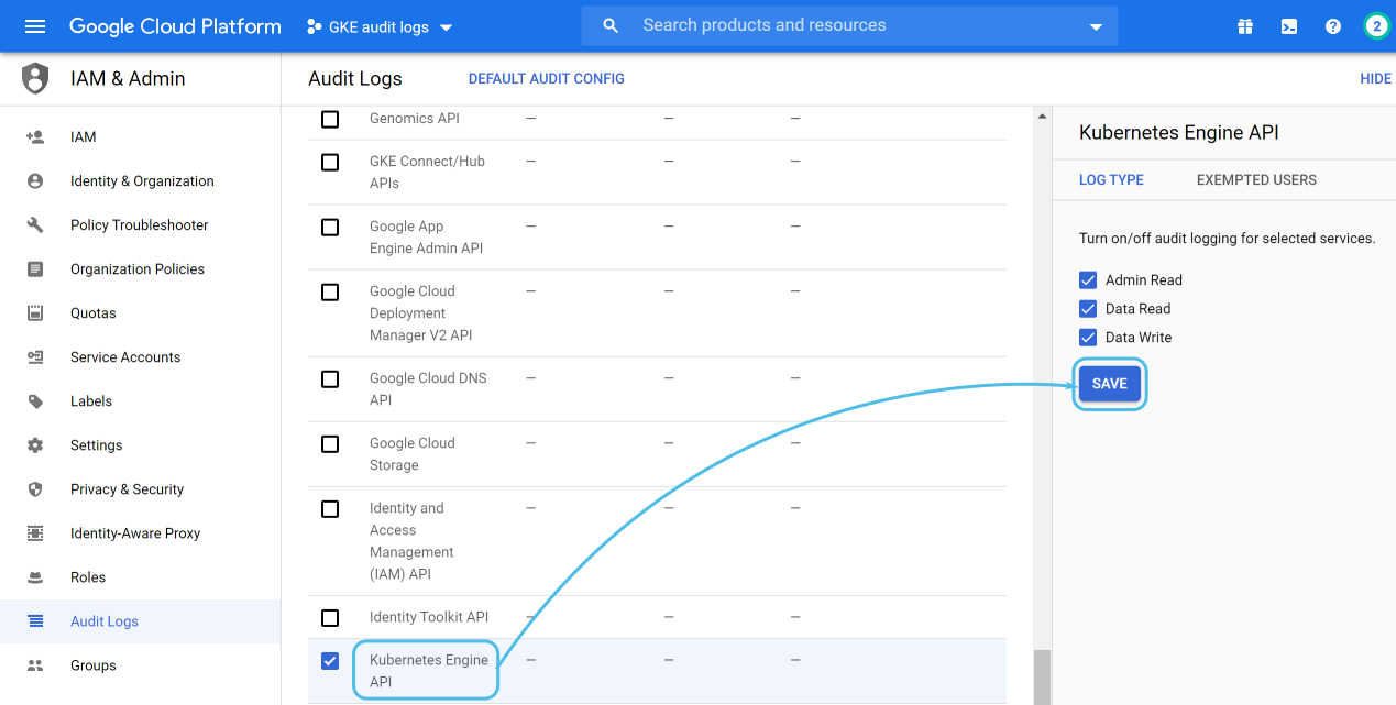 Google Cloud data access